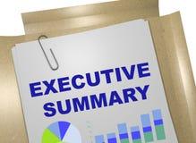 Executive Summary concept Stock Photos