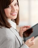 Executive with tablet at the office Stock Photography