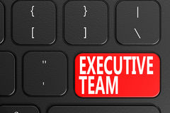 Executive Team on black keyboard Royalty Free Stock Images
