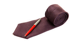 Executive Tie And Pen Stock Photos