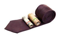 Executive tie and money Royalty Free Stock Photo