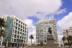 Executive Tower & Estevez Palace. Uruguay. Royalty Free Stock Photo