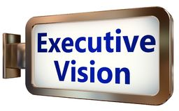 Executive Vision on billboard background. Executive Vision wall light box billboard background , isolated on white Stock Photography