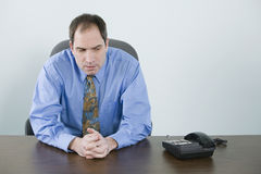 Executive waiting for telephone Stock Images