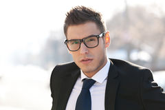Executive wearing glasses Stock Photography