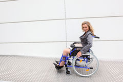 Executive in a wheelchair stock photography