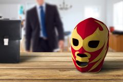 Daily fight of a person. Wrestling worker royalty free stock photography