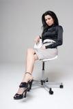Executive woman. Studio shot of a executive woman royalty free stock photos