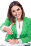 Executive woman giving a shake hand Royalty Free Stock Photos