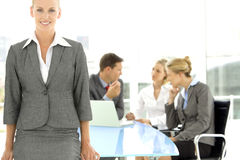 Executive woman leader Stock Images