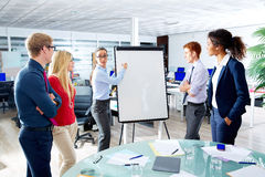 Executive woman presentation multi ethnic team Royalty Free Stock Images