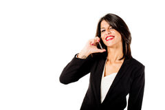 Executive woman talking on the phone Stock Photography
