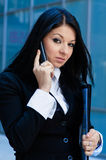 Executive woman talking on phone Royalty Free Stock Images