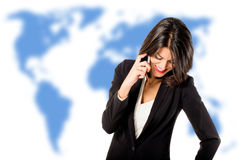 Executive woman talking on the phone Royalty Free Stock Images