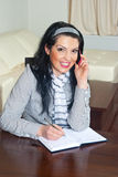Executive woman working home Royalty Free Stock Image