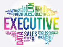 Executive word cloud collage