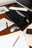 Executive Workdesk 4. A beautiful rosewood workdesk of an executive Royalty Free Stock Image
