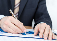 Executive working with diagrams Royalty Free Stock Photos