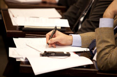 Executive writing Stock Photography