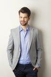 Executive young businessman. Portrait of executive young businessman Stock Images