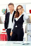 Executives. Business women and businessman working together at the office royalty free stock photo