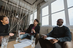 Executives brainstorming ideas Stock Images