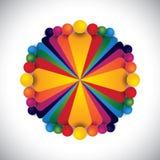 Executives & directors of company meeting & discus vector illustration