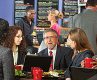 Executives Eating Lunch Royalty Free Stock Image