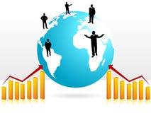 Executives on globe Royalty Free Stock Photography