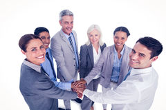 Executives holding hands together Royalty Free Stock Image