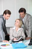 Executives making a date. In the diary stock photography
