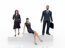 Executives on the podium Stock Image