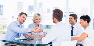 Executives shaking hands during business meeting Royalty Free Stock Photos