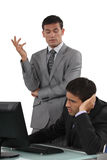 Executives to discuss problem. Their having Stock Images