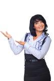 Executivfrau, die eine Darstellung bildet Lizenzfreies Stockfoto