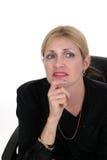 Executivgeschäftsfrau, die 3 plant Lizenzfreies Stockbild