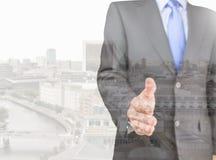 Executivo da cidade do negócio Imagem de Stock