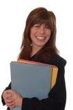 Executivo do escritório com arquivos Imagens de Stock