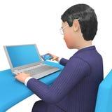 Executivo e Entrepren de Character Shows Illustration do homem de negócios Imagem de Stock