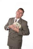Executivo e seu dinheiro Foto de Stock
