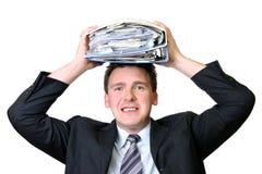 Executivo e seus originais Imagens de Stock Royalty Free