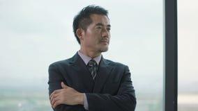 Executivo empresarial asiático superior vídeos de arquivo