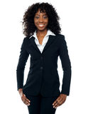 Executivo empresarial fêmea africano à moda imagem de stock