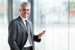 Executivo empresarial superior Foto de Stock Royalty Free
