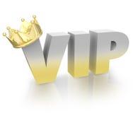 Executivo muito importante de Person Gold Crown Official King do VIP Fotografia de Stock