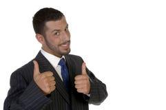 Executivo novo que deseja a boa sorte Fotografia de Stock