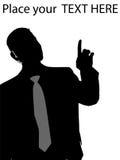 Executivo que aponta para cima ilustração royalty free