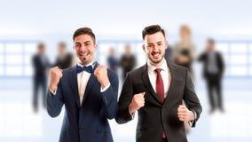 Executivos alegres fotos de stock