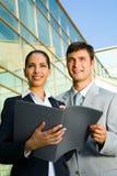 Executivos bem sucedidos Imagens de Stock Royalty Free