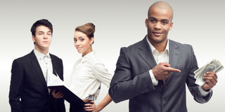 Executivos bem sucedidos novos Imagem de Stock Royalty Free